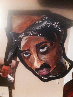 #2pac #tupac #art #painting #acrylic #TuPacArt Tupac Art, 2pac, My Arts, Painting, Painting Art, Paintings, Painted Canvas