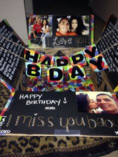 Happy birthday care package military care package...i amsending my boyfriend a box like this! (Diy Geschenke Boyfriend)