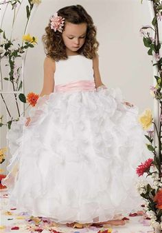 Organza Ruffle Gown by Jordan Sweet Beginnings Collection Collection L303