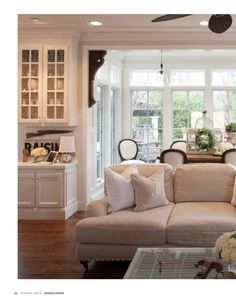 Marin Home Magazine Spring 2013 - I like the architectural detail in between the rooms.