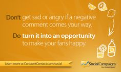 Tip 4 don t get sad about negative comments do turn it into