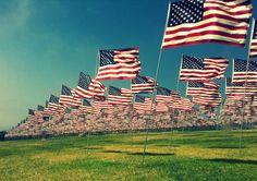 8x10 Vintage Style Flag USA Patriot Art 9-11 Memorial Tribute in Malibu