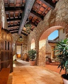 More and more homeowners are opting for a Tuscan landscape design for Old World charm that blends the elegance of their fine home with the natural beauty of simple gardens.To create a Tuscan garden look, consider these flooring options: Tuscan Style Homes, Spanish Style Homes, Spanish Colonial, Tuscan Garden, Tuscan House, Tuscan Courtyard, Tuscan Art, Courtyard Entry, Courtyard House