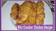 Interesting EASY CRISPY OVEN BAKED RITZ CRACKER CHICKEN RECIPE #dinner #lunch #RecipeOfTheDay #Recipes