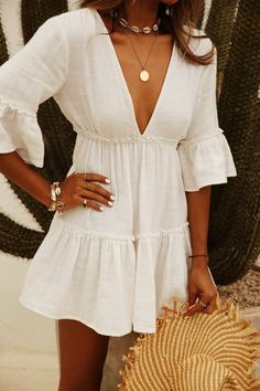45 Perfect Outfits For Summer Break - Wass Sell fashion style fashion show fashion week runway catwalk trend beauty lifestyle moda models mode tr Mode Outfits, Trendy Outfits, Fashion Outfits, Womens Fashion, Dressy Summer Outfits, Summer Holiday Outfits, Fashion Trends, Fashion Ideas, Fashion 2018