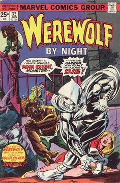 Werewolf by Night Appearance of Moon Knight Vol Marvel Comics VF- Marvel Comic Books, Comic Book Characters, Comic Character, Comic Books Art, Comic Art, Comic Superheroes, Marvel Characters, A Comics, Horror Comics