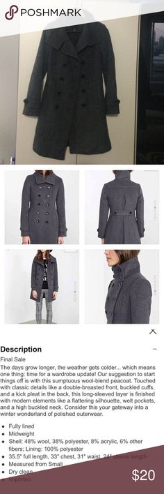 Double breasted pea coat Size small, like new! No stains/flaws. Forever 21 Jackets & Coats Pea Coats