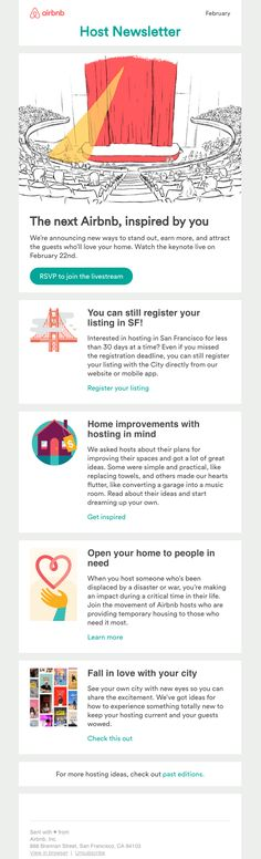 The Best Email Designs in the Universe (that came into my inbox) Newsletter Template, Email Templates, Newsletter Ideas, Marketing Campaign Examples, Email Marketing Campaign, Html Email Design, Email Web, Best Email