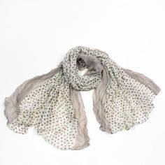 http://www.artfire.com/ext/shop/studio/bohemiantouch/1/1/10311//  Light Cream and Brown Polka Dot Print Soft Touch Women Shawl Scarf, scarf is a great addition to your collection of fashion accessories. Perfect for all year round.
