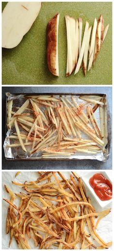 Smoky Garlic Oven Fries Recipe