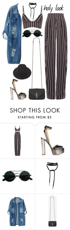 """Без названия #215"" by yananujnova ❤ liked on Polyvore featuring Movado, Giuseppe Zanotti, Chicnova Fashion, Yves Saint Laurent and Brixton"