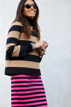 Stella McCartney top Prada skirt. Love the hot pink
