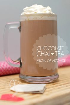 Easy Chocolate Chai Tea Recipe (Virgin or Alcohol) www.spaceshipsandlaserbeams.com #GayLeaFoods