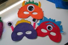 Let your little monsters run around while wearing a super cute mask. Each mask is made from eco-friendly felt in fun bright colors and have an