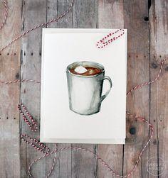 www.sequinsnsugar.com // hot chocolate goodness holiday card