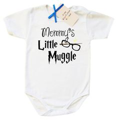 Harry Potter Baby Onesie; Mommy's Little Muggle Baby Onesie