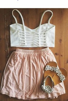 Daily New Fashion : Cute Summer Outfits (except the shoes) Cute Fashion, Look Fashion, Teen Fashion, Fashion Outfits, Womens Fashion, Fashion Trends, Travel Outfits, Holiday Fashion, Fashion 2017