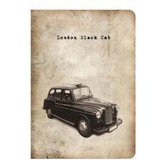 Vintage Black Cab Notebook
