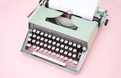 everyone needs a good mint green typewriter