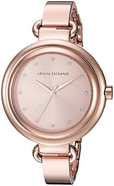 Armani Exchange Women's AX4241 Rose Gold Watch Beauty Women, Women's Beauty, Fashion Beauty, Womens Fashion, Girls Life, Michael Kors Watch, Gold Watch, Women Accessories, Rose Gold