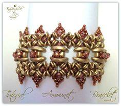 Beading pattern Amounet Bracelet in English di EnvyBeadwork Beaded Jewelry, Handmade Jewelry, Beaded Bracelets, Handmade Gifts, O Beads, Seed Beads, Bead Kits, Bead Weaving, Beaded Embroidery