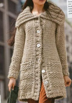 We accept Pay-Pal payments. Hand knit Long Winter Coat from chunky peruvian yarn .Made to order. Casual Sweaters, Long Sweaters, Long Sweater Coat, Sweater Cardigan, Long Winter Coats, Cardigans For Women, Types Of Sleeves, Hand Knitting, Knitwear