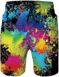 a42db202e9 TUONROAD Male Swimwear Trunks Trendy Board Swim Trucks Solid Black Yellow  Royal Blue Turquoise Tie Dye