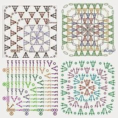 Lots of granny square charts!