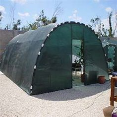 PVC hoop house with shade cloth cover.  Would work well in Texas! Free plans and pictures of PVC pipe projects.