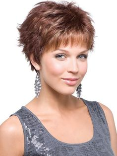 Natural looking Versatility Short Blonde Straight Synthetic Wigs from HoWigs are cost effective and easy to style. Short Spiky Hairstyles, Girls Short Haircuts, Shag Hairstyles, Short Hairstyles For Women, Straight Hairstyles, Pixie Haircuts, Ponytail Hairstyles, Hair Ponytail, Simple Hairstyles