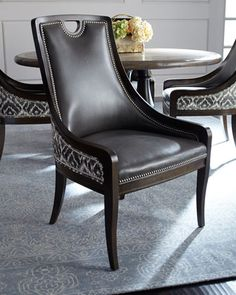 Scottie+Leather+Dining+Chair+by+Massoud+at+Horchow.