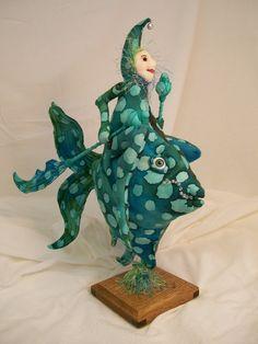 art doll, pattern by Julie McCullough, Magic Threads. com