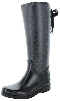 Coach Tristee Signature C Women's Rubber Rainboots Boots