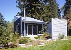 v c architect c3 tiny cabin camano 001   C 3 Cabin (And Plans) 480 Sq. Ft. Modern Loft Tiny Home