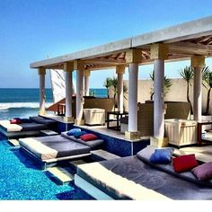 L V 8 Beach Club , Canggu, Bali Www. Vacation Destinations, Vacation Trips, Vacation Spots, Beautiful Sites, Beautiful Places, Bali Holidays, Beach Bars, Beach Club, Resort Spa