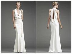Nicole Miller Open-Back Drape Halter Gown :  wedding Nicole Miller Wedding Dresses 3