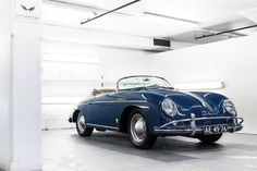 Blue Porsche 356.