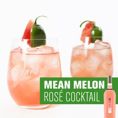 MEAN MELON: ROSÉ COCKTAIL | Uproot Wines & Liquid Labs | A sweet orange punch with splashes of Rosé notes filling in the details throughout. There's a slow jalapeño burn, but a refreshing watermelon finish is there to cool things off. - http://www.drinkuproot.com/blogs/recipes/30434371-mean-melon-our-official-summer-rose-cocktail