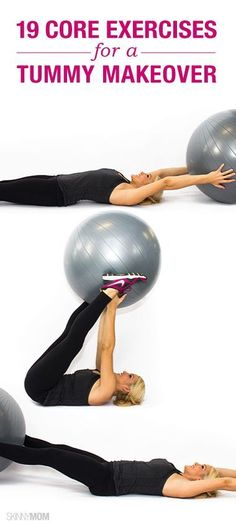 9 Moves To Shrink Your Muffin Top Stability Ball V-Pass That ball might feel light, but wait until your abs have to support it! You'll start sweating in no time! Beginner – 3 sets of 12 (bend your knees if necessary) Advanced – 3 sets of 15 Fitness Workouts, Fitness Motivation, Sport Fitness, Fitness Diet, At Home Workouts, Health Fitness, Ball Workouts, Core Workouts, Fitness Gear