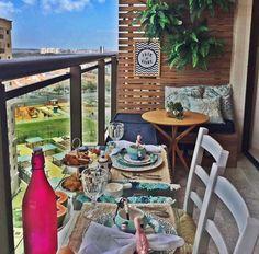 Small Balcony Decor, Outdoor Spaces, Outdoor Decor, Backyard, Patio, Balcony Garden, Terrace Ideas, Balcony Ideas, Sweet Home
