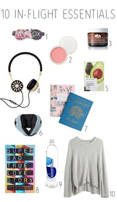 essential items for every girl's carry on