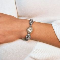 Beautiful as a pearl, and resilient as platinum. Happy Mother's Day to the moms, grandmothers, aunts and other incredible women who mean so much.  @doyleanddoyle Aunts, Grandmothers, Happy Mothers Day, The Incredibles, Pearls, Bracelets, Silver, Beautiful, Jewelry