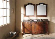 72 Inch Double Sink Bathroom Vanity with Baltic Brown Granite