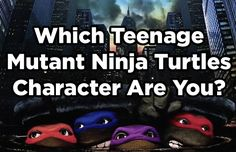 Which Teenage Mutant Ninja Turtles Character Are You? Comment below