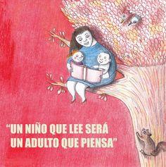 """""""Un niño que lee será un adulto que piensa"""" #Citas #Frases #Candidman"""