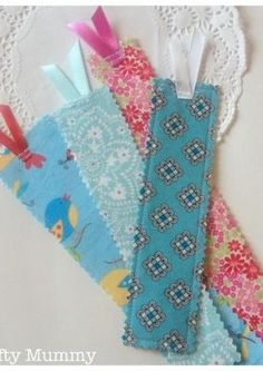 Fabric Scrap Bookmarks - great way to use up you scraps from Chadwick Heirlooms!: