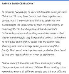Blended Family Vows