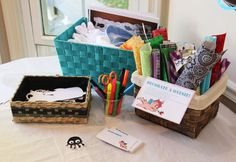 Onesie Decorating - Baby Shower  Check this out.  We could do this. I have all the supplies!!!