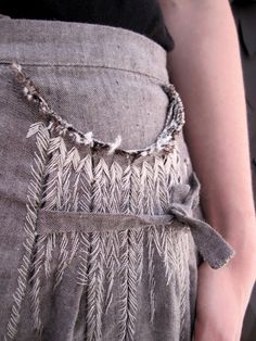 from worthwhile.com pocket hand embroidery detailing - idea for neckline embellishment