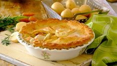 Who can possibly resist the lure of a homemade chicken mayo pie? One slice will definitely not be enough! Pie Recipes, Recipies, Dinner Recipes, Cooking Recipes, Almond Chicken, Blanched Almonds, Weekday Meals, Chicken Casserole, Meal Planner